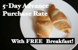 5-Day Advance Purchase Rate From €64.00