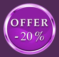 20% Early Booking Offer - 30 days in advance De €52