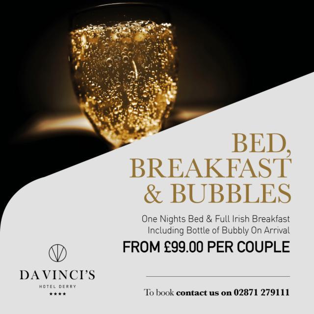 Bed, Breakfast & Bubbles - Double/Twin room