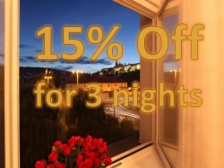 3 Nights Stay with 15% OFF (Standard Room for 1 person)