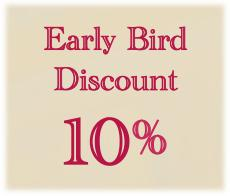 Book in Advance and Save 10%