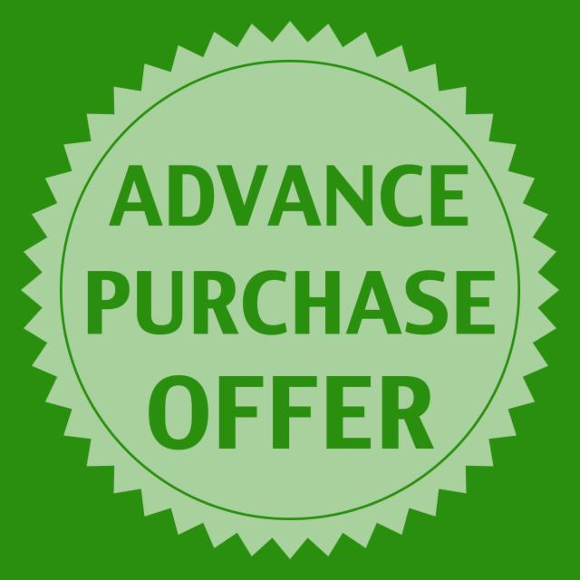 Book in advance and save up to 20%
